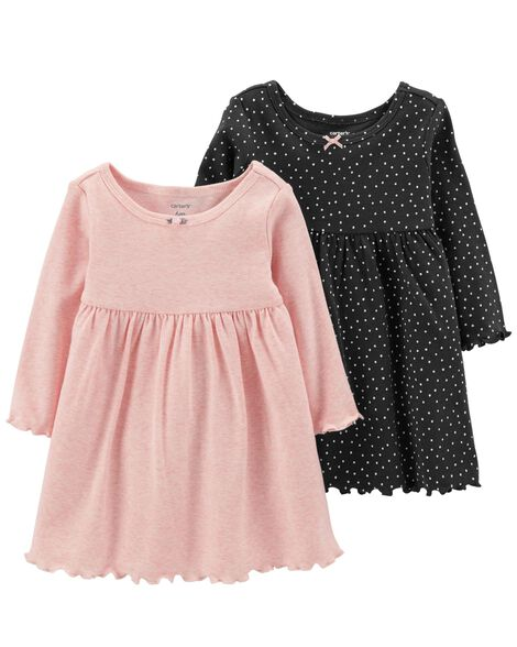 2 Pack Long Sleeve Dress Set by Carter's