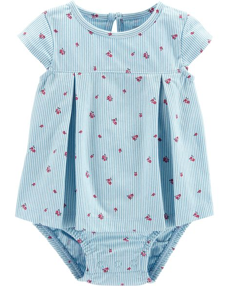 Striped Flower Sunsuit by Carter's
