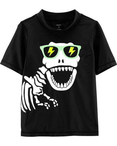 Carter's Dinosaur Skeleton Rashguard by Oshkosh