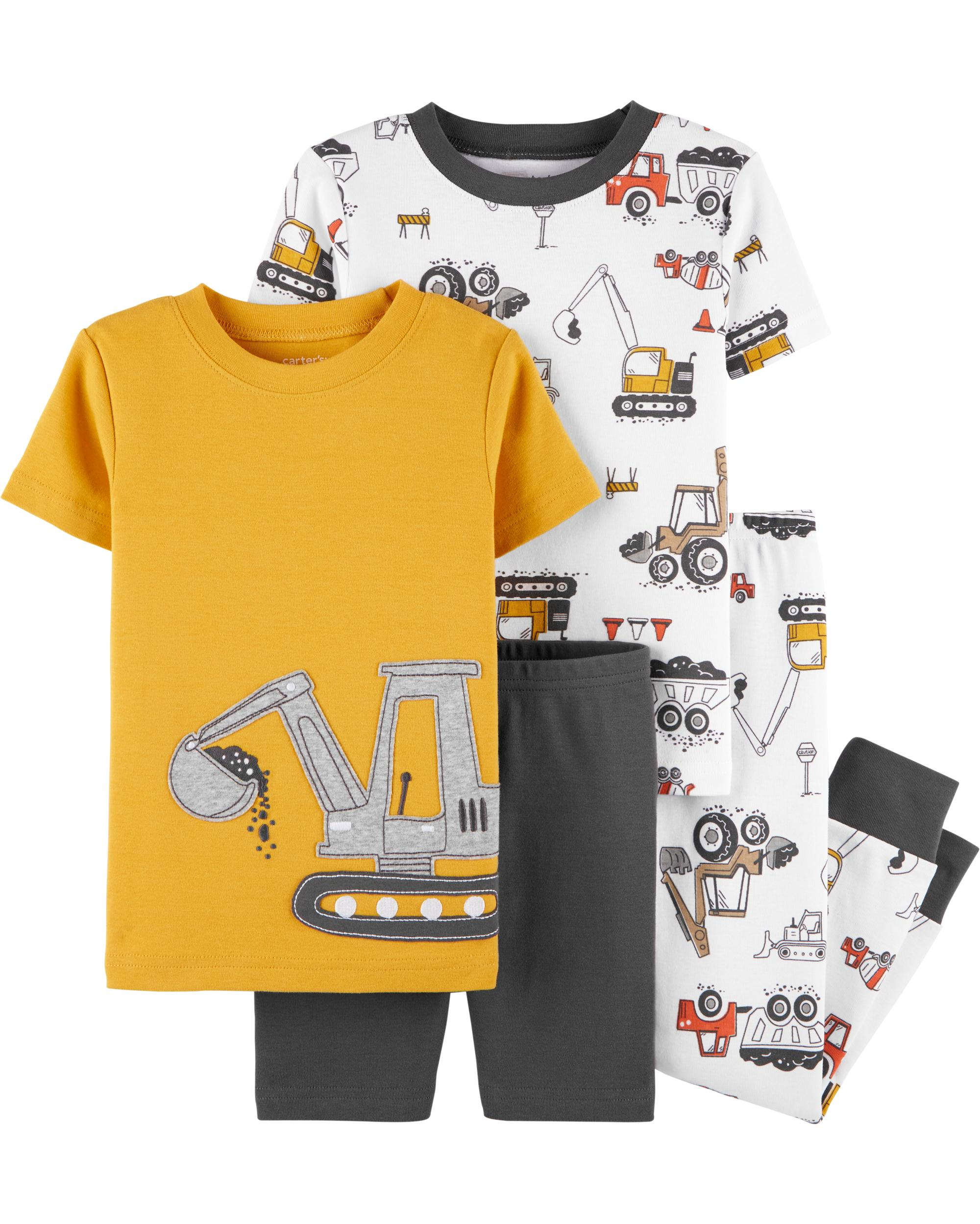 4-Piece Carter's Toddler and Baby Top/Bottom Pajamas Set (various)