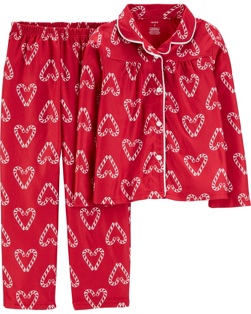 candy cane heart pajamas for Christmas