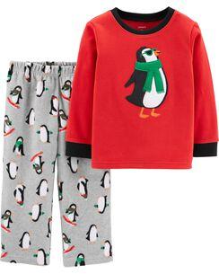 2-Piece Penguin Fleece PJs
