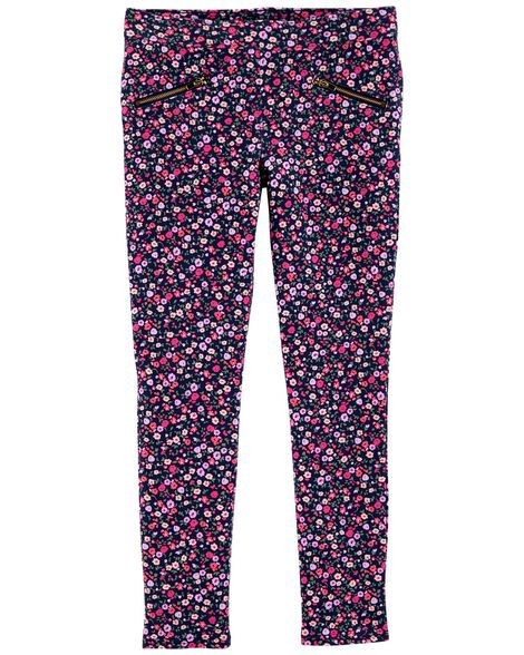 French Terry Floral Jeggings by Oshkosh