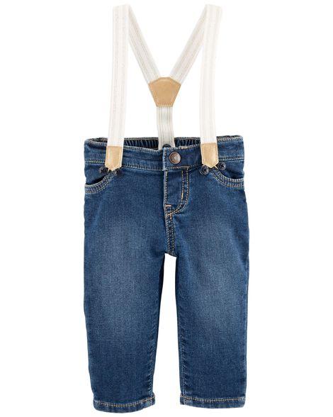 Sparkle Suspender Pants by Oshkosh