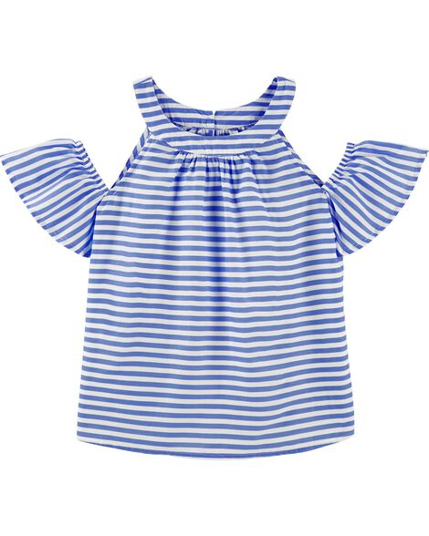 Striped Cold Shoulder Top by Oshkosh