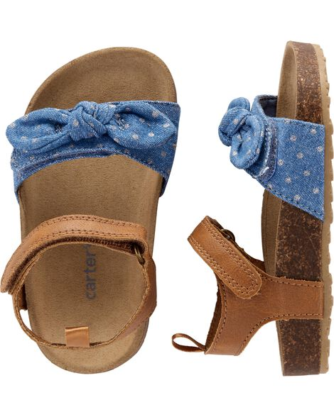 Carter's Chambray Cork Sandals by Oshkosh