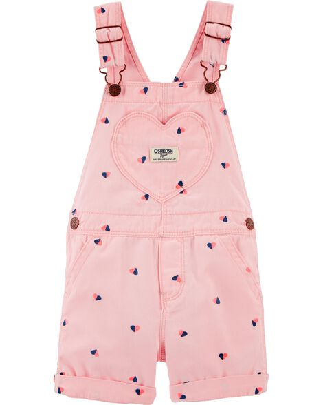 Heart Schiffli Shortalls by Oshkosh