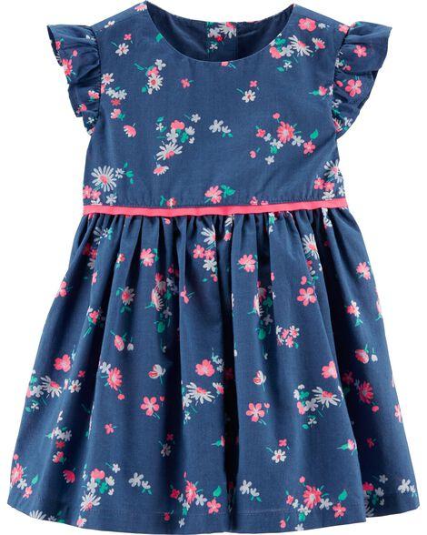Ruffle Sleeve Floral Dress by Oshkosh