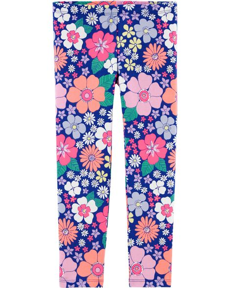 Neon Floral Leggings by Oshkosh