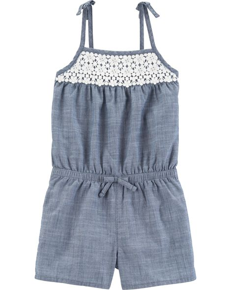 Chambray Romper by Oshkosh