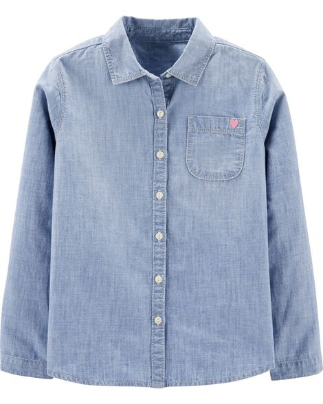 Button Front Chambray Shirt by Oshkosh