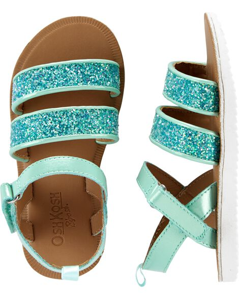 Osh Kosh Turquoise Glitter Sandals by Oshkosh