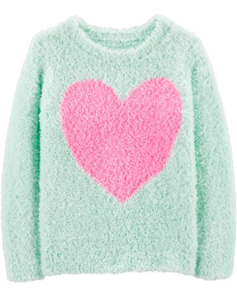 Fuzzy Heart Sweater by Oshkosh