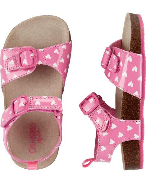 Osh Kosh Buckle Heart Sandals by Oshkosh