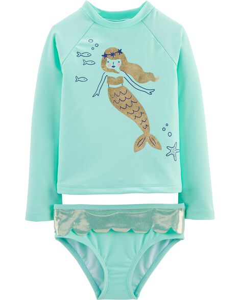 Osh Kosh Mermaid Rashguard Set by Oshkosh