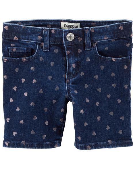 Heart Print Skimmer Shorts by Oshkosh