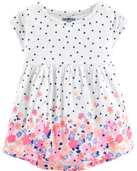 Polka Dots & Floral Tunic by Oshkosh
