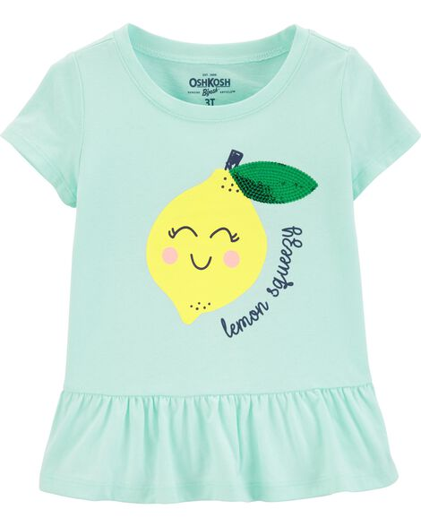 Lemon Peplum Hem Top by Oshkosh