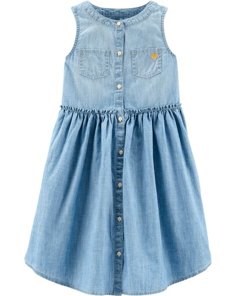 Sleeveless Chambray Dress by Oshkosh