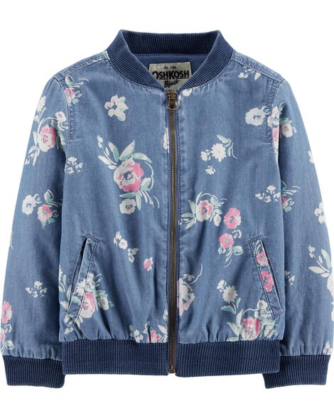 Denim Floral Jacket by Oshkosh