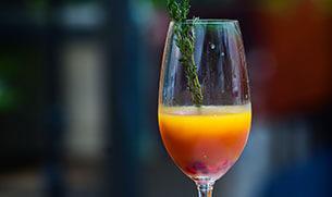 Original Body Boost Collagen Mango Purée and Pomegranate Mocktail