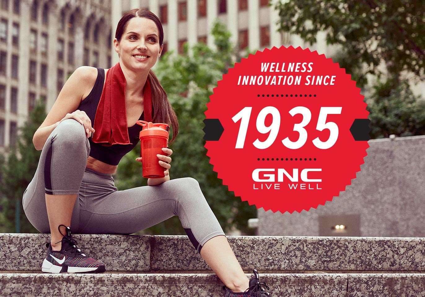 In your corner. Always. GNC Wellness Innovations since 1935. More than 85 years of supporting the pursuit of your goals. And counting.